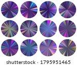 radial metallic gradient web...