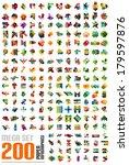 mega set of infographic... | Shutterstock .eps vector #179597876
