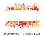 watercolor background with a... | Shutterstock . vector #1795981135