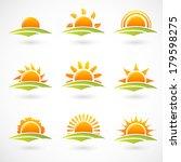 sunset icons | Shutterstock .eps vector #179598275