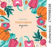 fresh vegetables  square... | Shutterstock .eps vector #1795988188