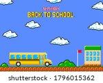 back to school pixel art...   Shutterstock .eps vector #1796015362