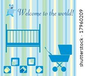 baby boy welcome card design... | Shutterstock .eps vector #17960209