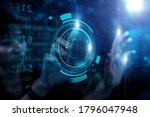 businesswoman working with... | Shutterstock . vector #1796047948