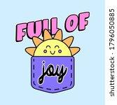 Full Of Joy Text  Illustration...