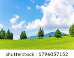 Hills and trees in Asagiri plateau, Fujinomiya city, Shizuoka prefecture