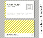 vector business card with... | Shutterstock .eps vector #179606522