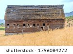 Old Heritage Wooden Barn Is...