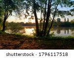 Small photo of La Clarette lake in the French Gatinais regional nature park