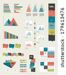 flat infographic collection of... | Shutterstock .eps vector #179613476