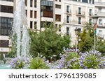 Fountain Of Battles In Granada...
