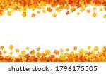 autumn leaves frame isolated on ...   Shutterstock . vector #1796175505