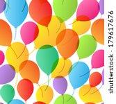seamless pattern. balloons... | Shutterstock .eps vector #179617676