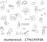 set of hand drawn illustrations ... | Shutterstock .eps vector #1796195938