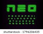 neo geometric letters set....