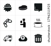 illustration set of mixed icons ...