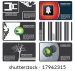 set of business cards with firm ... | Shutterstock .eps vector #17962315