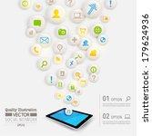 creative social network... | Shutterstock .eps vector #179624936