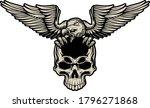 eagle with skull head vector... | Shutterstock .eps vector #1796271868