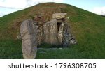 Bryn Celli Ddu burial  chamber. A historic land mark in Anglesey, North Wales, UK