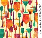pattern background. fork  knife ...   Shutterstock .eps vector #179634308