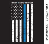 honor serve protect thin blue... | Shutterstock .eps vector #1796347855