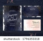 elegant wedding cards with... | Shutterstock .eps vector #1796353318