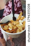 Small photo of A delectable poutine as a hefty snack to share!