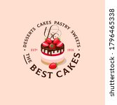 the best cakes logo. sweets and ... | Shutterstock .eps vector #1796465338