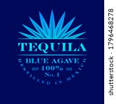 Tequila Label. Blue Agave...