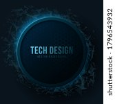 futuristic banner with blue... | Shutterstock .eps vector #1796543932