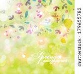 vector elegant spring... | Shutterstock .eps vector #179655782