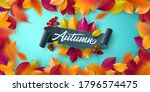 autumn poster and banner... | Shutterstock .eps vector #1796574475