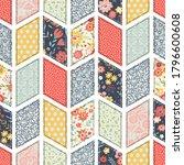 seamless pattern  patchwork... | Shutterstock .eps vector #1796600608