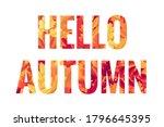 hello autumn lettering. retro... | Shutterstock .eps vector #1796645395