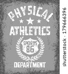 college athletic department... | Shutterstock .eps vector #179666396