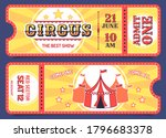 circus tickets. entrance ticket ... | Shutterstock .eps vector #1796683378