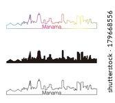 manama skyline linear style... | Shutterstock .eps vector #179668556