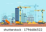 Vector Of A Construction Site...