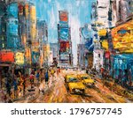 Oil Painting   City View Of New ...