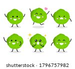 collection of cute cabbage... | Shutterstock .eps vector #1796757982
