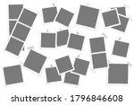 big set of retro square photo... | Shutterstock . vector #1796846608