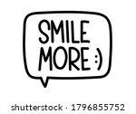 smile more inscription.... | Shutterstock .eps vector #1796855752