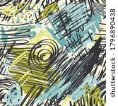 vector seamless abstract... | Shutterstock .eps vector #1796890438