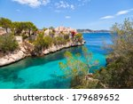 cala fornells view in paguera ...   Shutterstock . vector #179689652