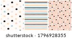 simple dotted and striped... | Shutterstock .eps vector #1796928355
