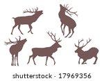 buck deer   elements for... | Shutterstock .eps vector #17969356