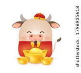 happy chinese new year 2021.... | Shutterstock .eps vector #1796935618