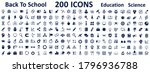 set back to school icons  day... | Shutterstock .eps vector #1796936788