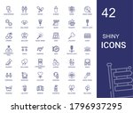 shiny icons set. collection of...   Shutterstock .eps vector #1796937295